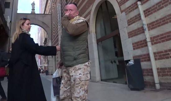 Український десантник-блогер Ананьєв опублікував відео сутички з пропагандистом Кремля Шейніним