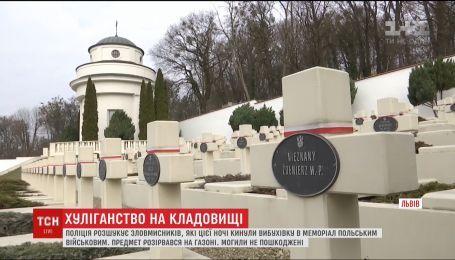 """Неизвестные бросили взрывчатку в мемориал польским военным """"Кладбище Орлят"""" во Львове"""
