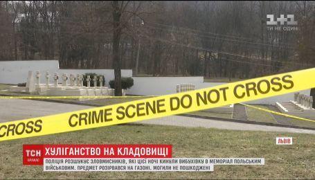 """Во Львове продолжаются поиски неизвестных, которые бросили взрывчатку в мемориал """"Кладбище Орлят"""""""