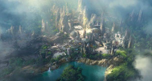 """З'явилось відео, як будують футуристичний парк """"Зоряних війн"""" у Діснейленді"""