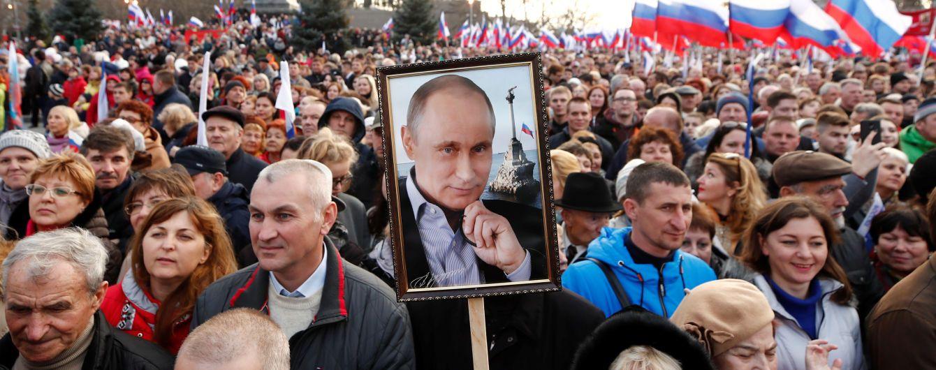 """Путин назвал """"референдум"""" в Крыму """"настоящей демократией"""""""