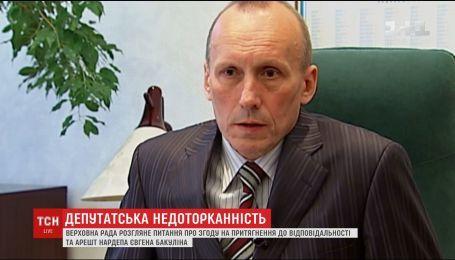 ВР розгляне питання притягнення до кримінальної відповідальності Бакуліна