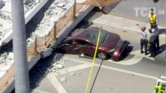 У Майамі впав бетонний міст – розчавив людей та автомобілі