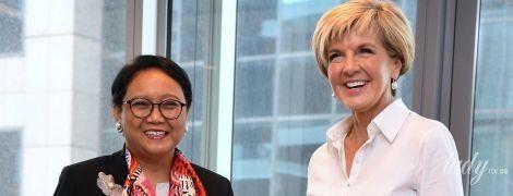 Красивый наряд и тесные туфли: образ министра иностранных дел Австралии на деловой встрече