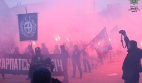 """В Ужгороді націоналісти пройшлися """"чорною ходою"""" на честь річниці створення Карпатської України"""