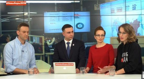 """""""Всі твої справи огидні і лицемірні"""": Навальний і Собчак погризлися у прямому ефірі"""