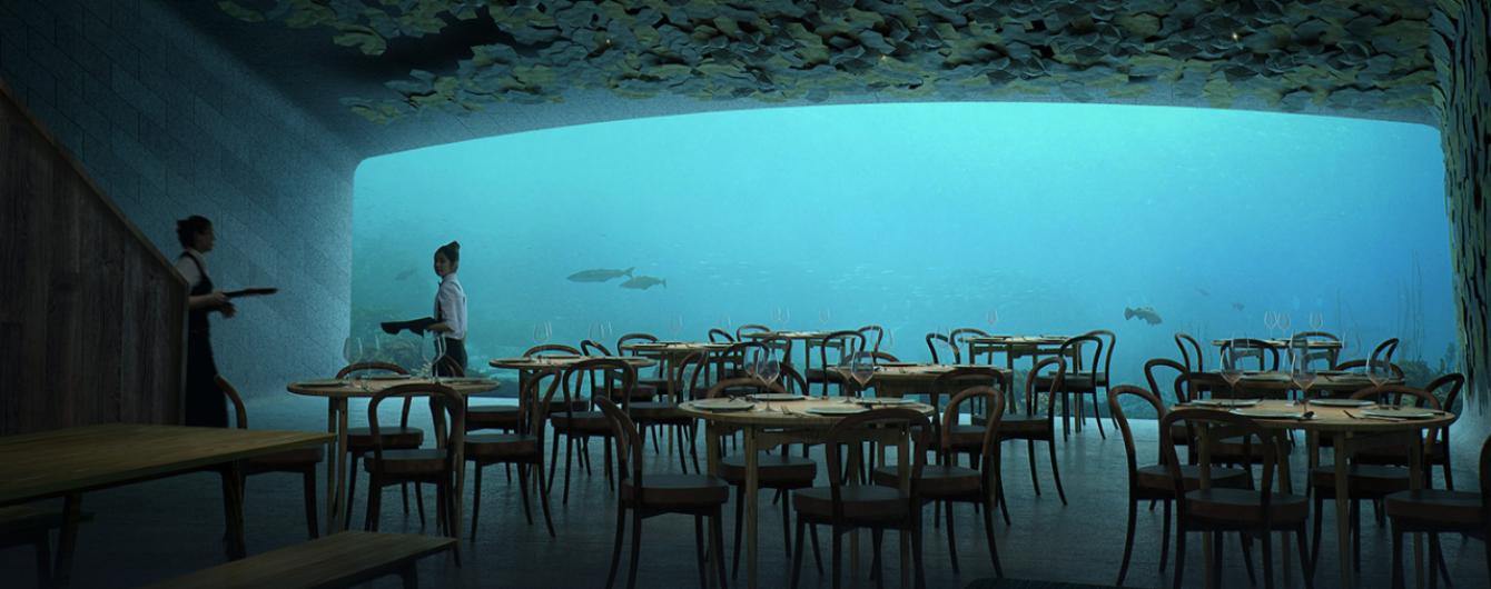 Перший підводний ресторан Європи з панорамним вікном зводять у Норвегії