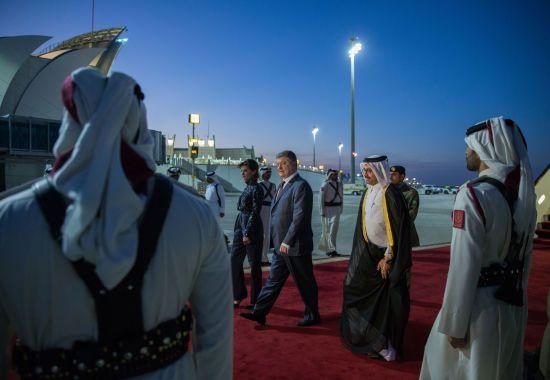 Порошенко приїхав до Катару з офіційним візитом