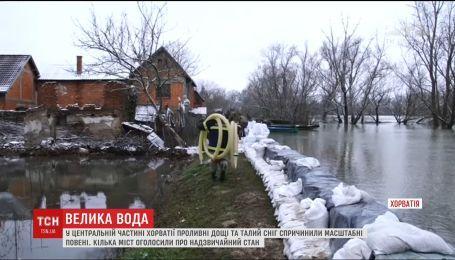 Хорватия страдает от наводнений