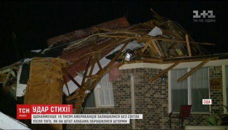 Сразу несколько штормов обрушилось на американский штат Алабама