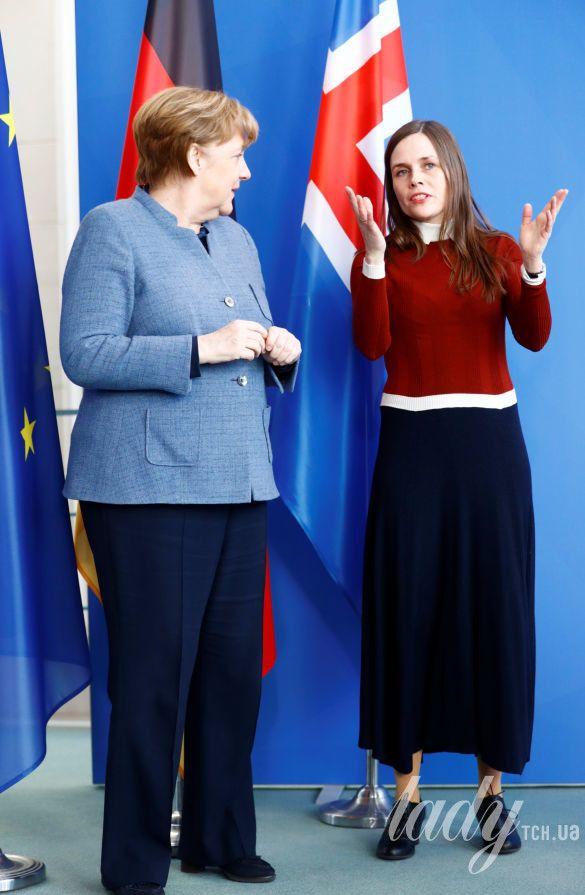 Катрин Якобсдоттир и Ангела Меркель_5