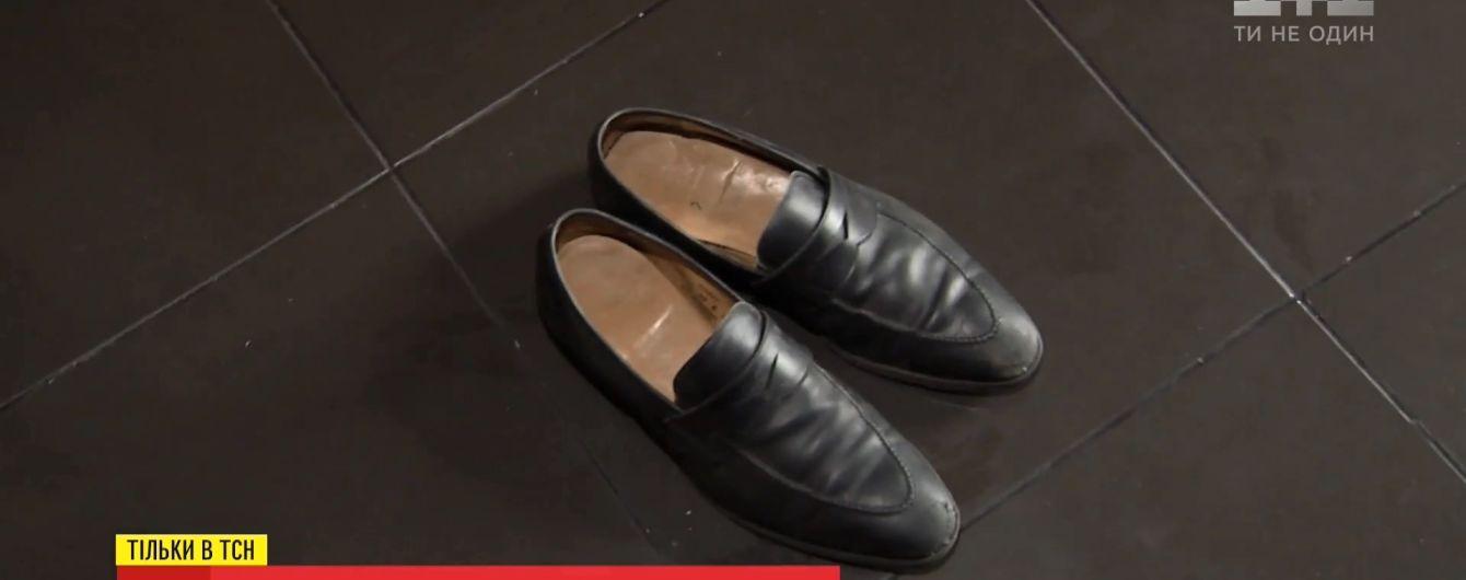 """На крыше """"дома Саакашвили"""" нашли элитные английские туфли стоимостью 15 тысяч гривен"""
