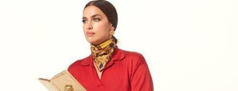 Не узнать: Ирина Шейк на первом кадре фотосета для Versace