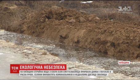 Отруйна вода із зачиненого звалища під Києвом тече у річки