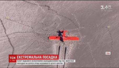 У США пілот вижив під час жорсткої посадки літака на пляж