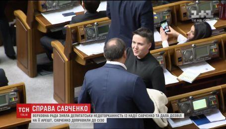 Савченко провела ночь в СИЗО и готовится к избранию меры пресечения