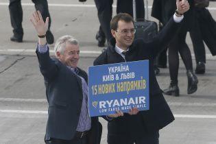 Омелян розповів про подальші плани Ryanair в Україні