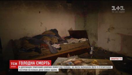 На Закарпатье от голода умер 3-летний мальчик