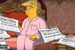 """В новых """"Симпсонах"""" посмеялись над Трампом, а Путина """"провозгласили"""" госсекретарем США"""
