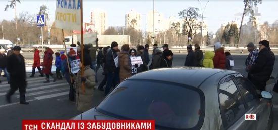 У Києві зі сварками та сутичками на годину перекрили Житомирську трасу