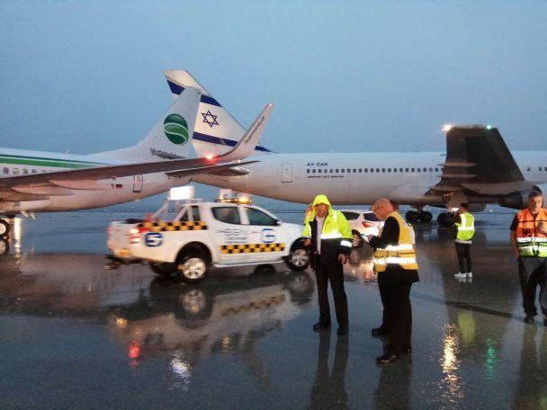 В ізраїльському аеропорту зіткнулися два літаки