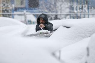 Останній подих зими: Київ засипало весняним снігом