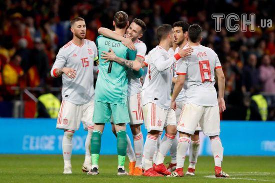 Гравці збірної Іспанії отримають по 800 тисяч євро за перемогу на ЧС-2018