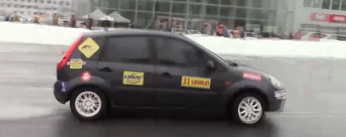 В Харькове определили победителя скоростного автослалома