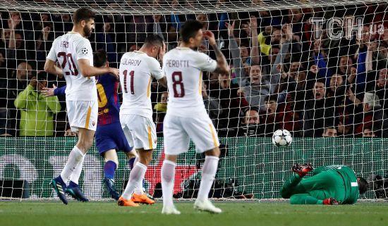 """Два автоголи дозволили """"Барселоні"""" розгромити """"Рому"""" у чвертьфіналі Ліги чемпіонів"""