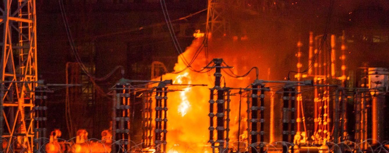 Рано утром загорелась Приднепровская ТЭС