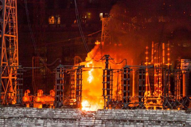 Рано-вранці загорілася Придніпровська ТЕС