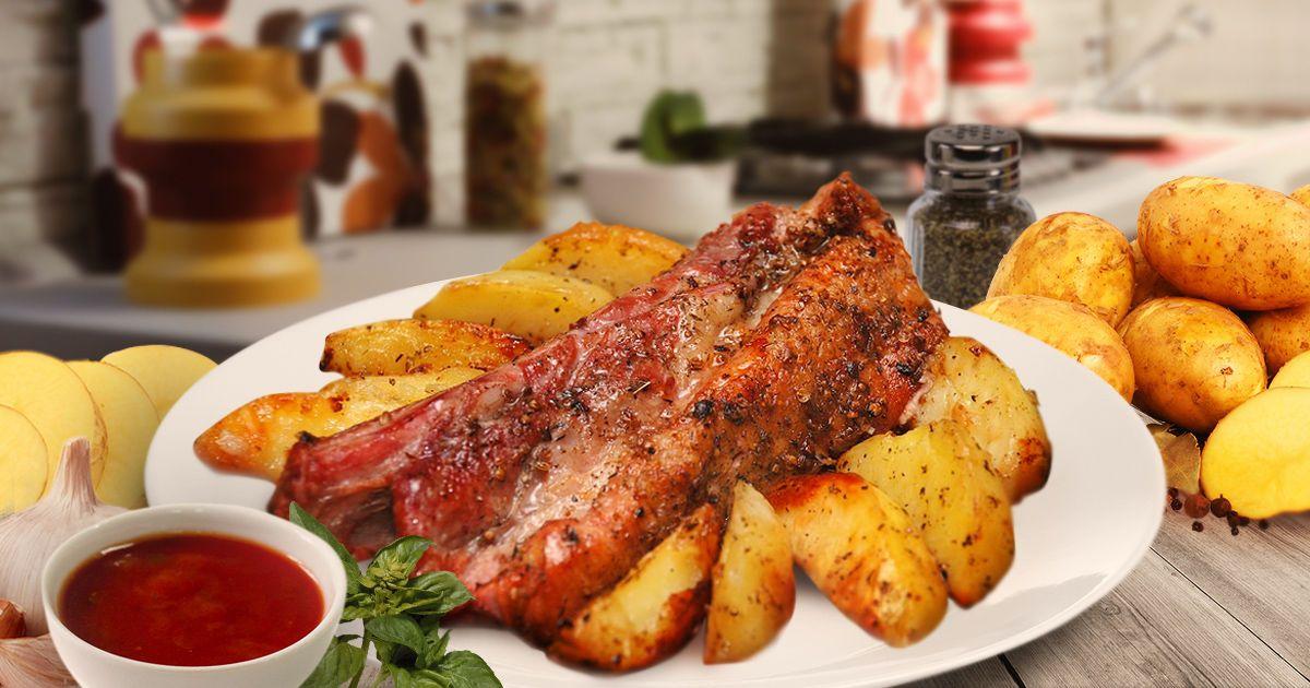 Вкуснейшие свиные ребра в духовке