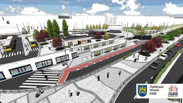 Во Львове реконструируют площадь у вокзала: пешеходам станет легче, а такси будут пускать только лицензионные