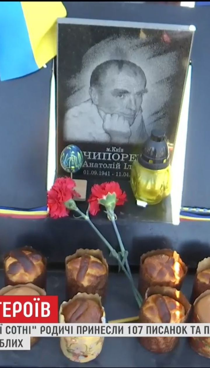 Почтить память: на Аллею Героев Небесной Сотни принесли 107 писанок и пасок
