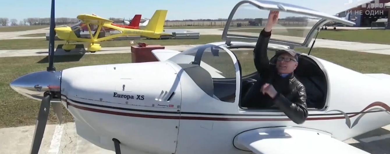 Пилоты устроили в небе под Киевом авиамайдан