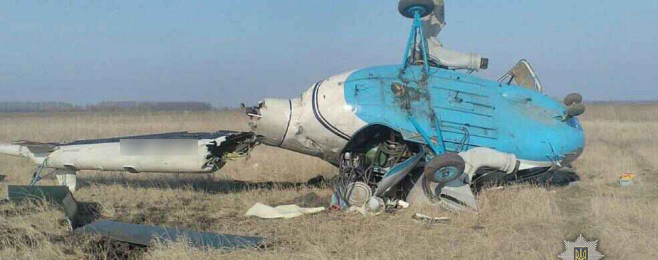 На Полтавщине разбился вертолет Ми-2
