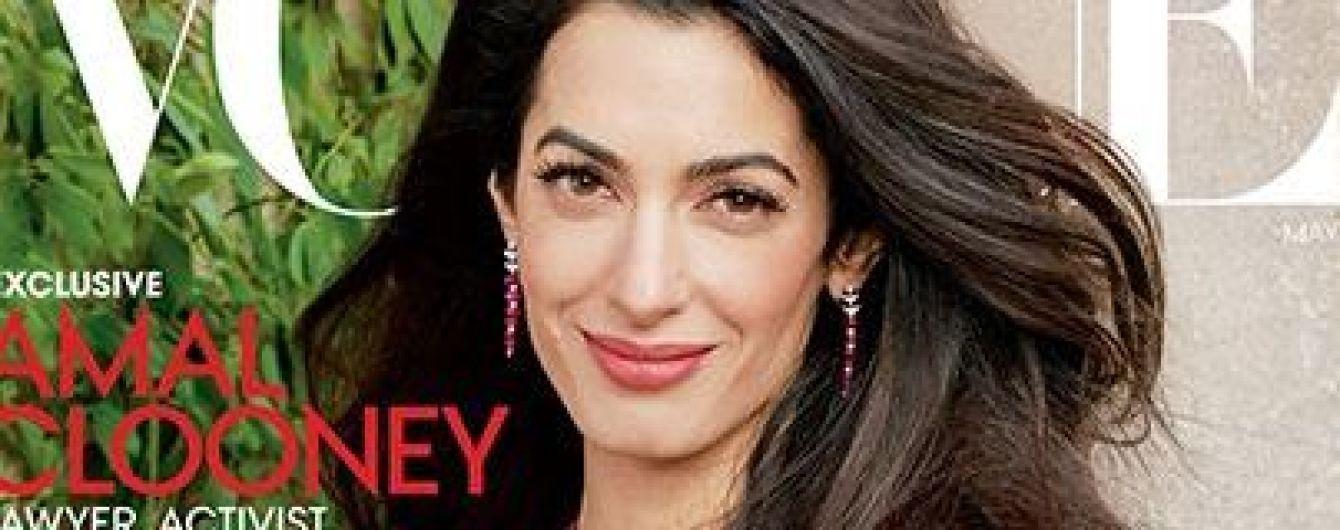 В ярком платье и с пышной прической: Амаль Клуни на обложке популярного глянца