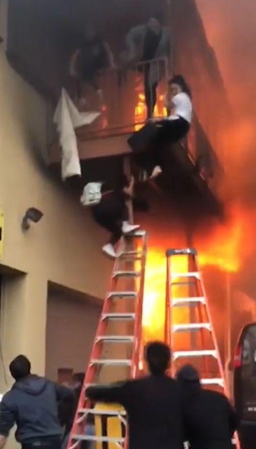 Страшный пожар произошел в американском штате Нью-Джерси