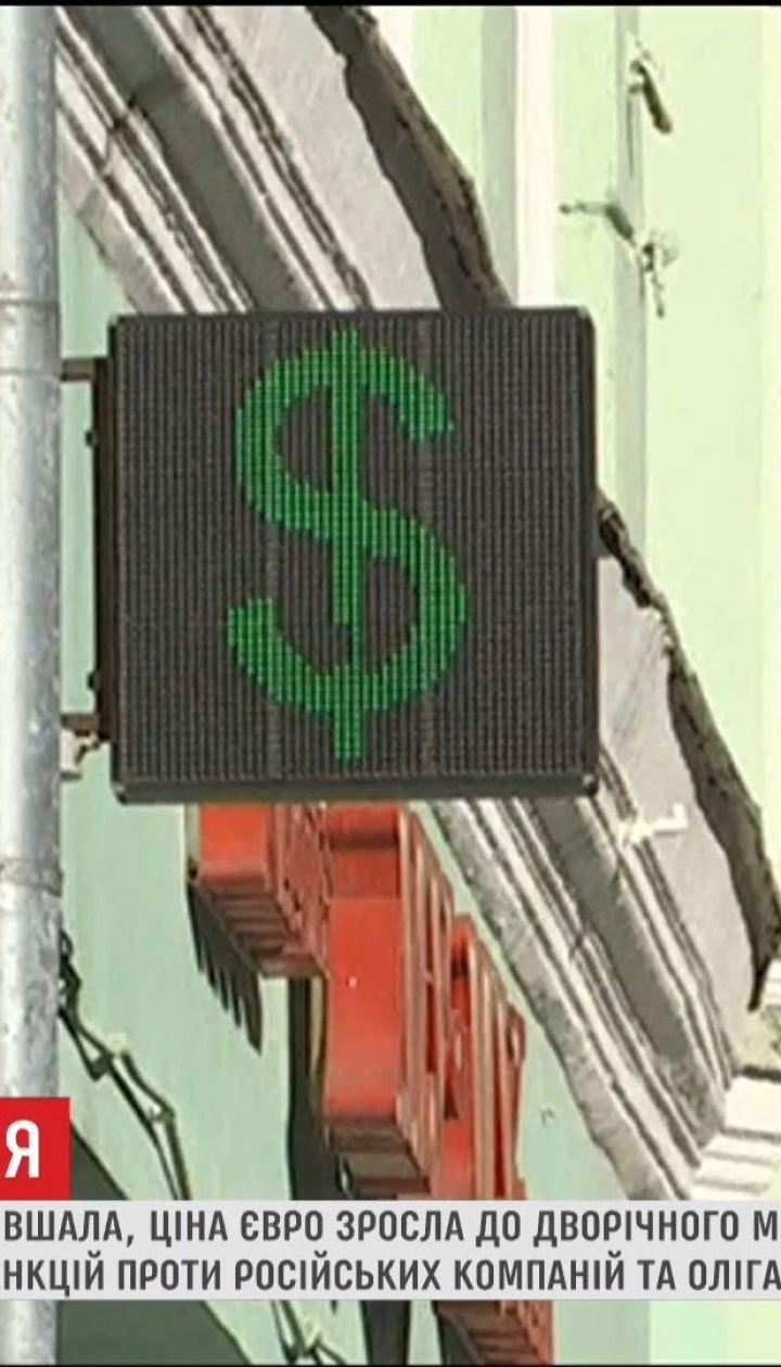 Через американські санкції у РФ фіксують рекордне здешевшання рубля