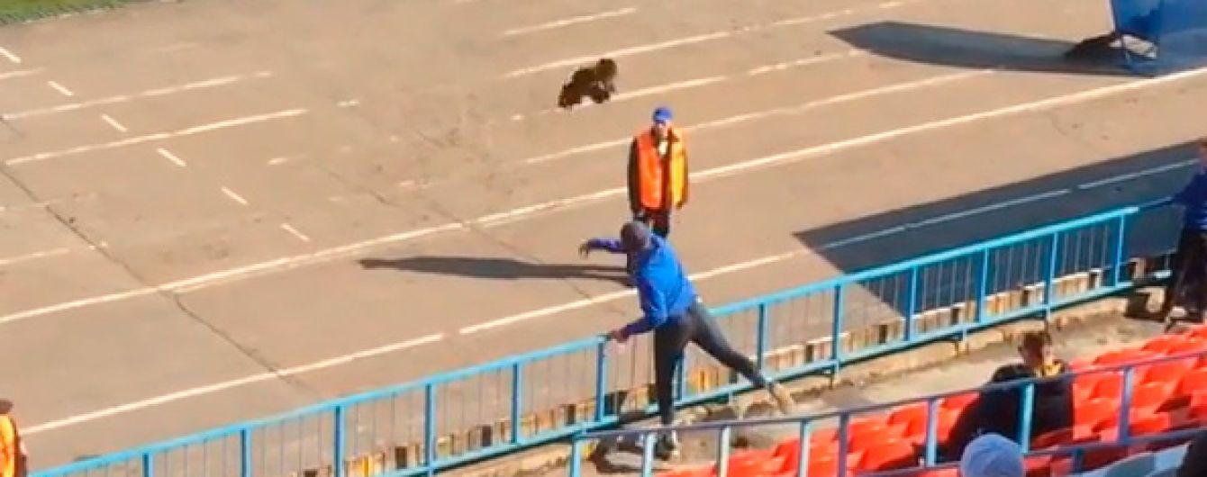 Російський фанат кинув живого півня у тренера своєї команди