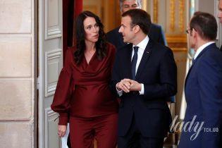 Стильная, красивая, беременная: премьер-министр Новой Зеландии Джасинда Ардерн на встрече с Макроном
