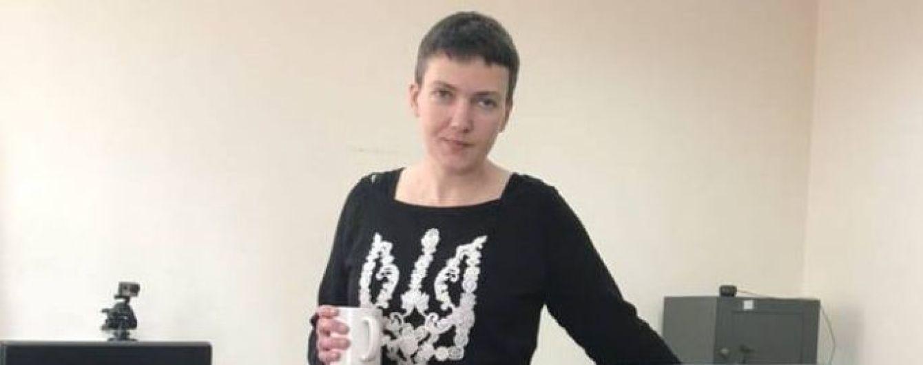 СМИ опубликовали фото Савченко после голодовки