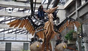 """Стім-панк чаплі """"прилетіли"""" до французької галереї механічних тварин"""