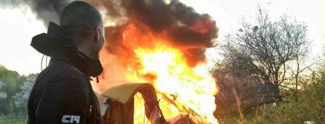 В Киеве на Лысой горе сожгли лагерь ромов