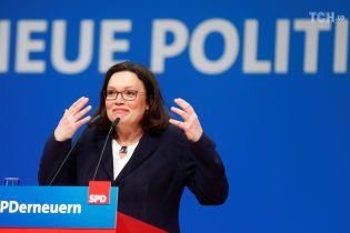 Соціал-демократичну партію Німеччини вперше за 155 років очолила жінка