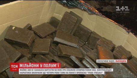 У Львові спалили майже триста кілограмів канабісу