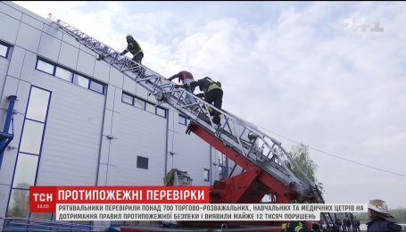 Пожарные провели проверку столичного торгово-развлекательного центра