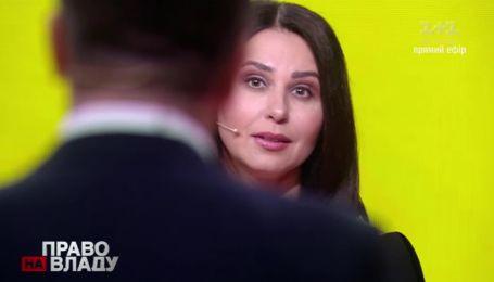 """Премія """"Телетріумф"""" наздогнала Наталію Мосейчук у прямому ефірі """"Право на владу"""""""