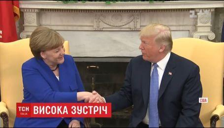 Ангела Меркель во второй раз приехала к Дональду Трампу в Вашингтон