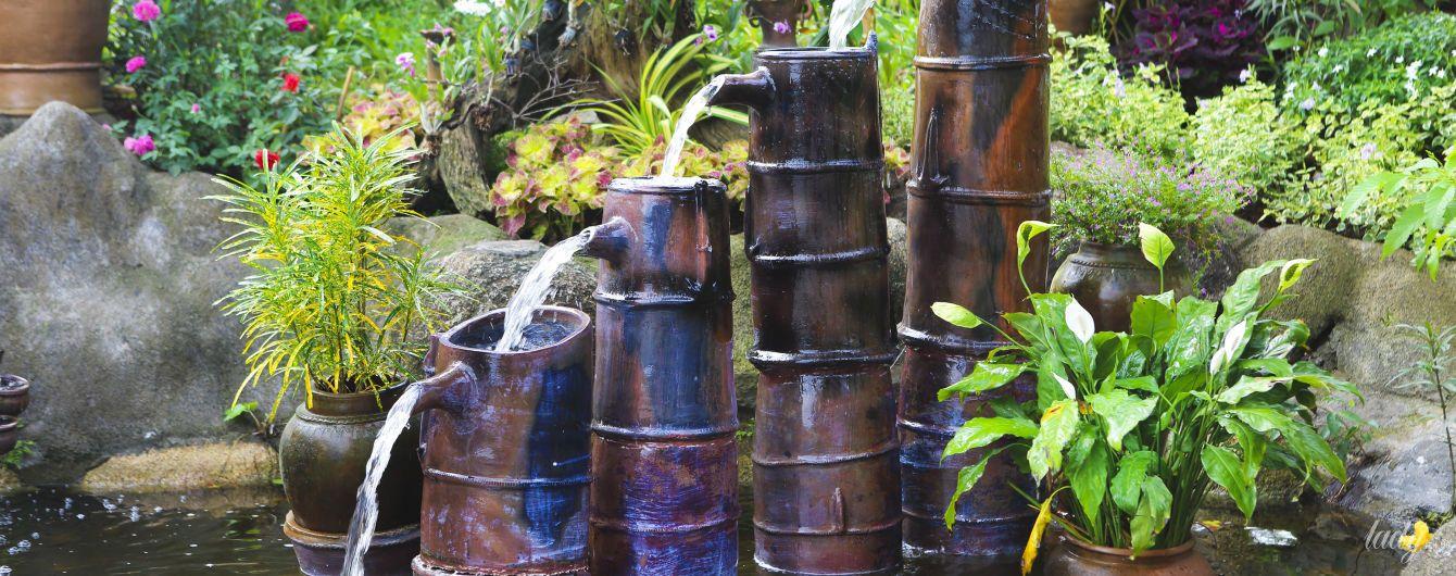 Как устроить фонтан и водопад в саду